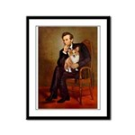 Lincoln's Corgi Framed Panel Print