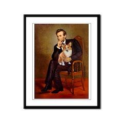 Lincoln's Corgi Framed Panel Print