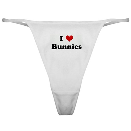 I Love Bunnies Classic Thong