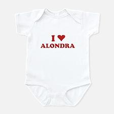 I LOVE ALONDRA Infant Bodysuit