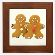 Gingerbread Men Framed Tile