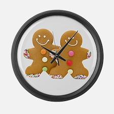 Gingerbread Men Large Wall Clock