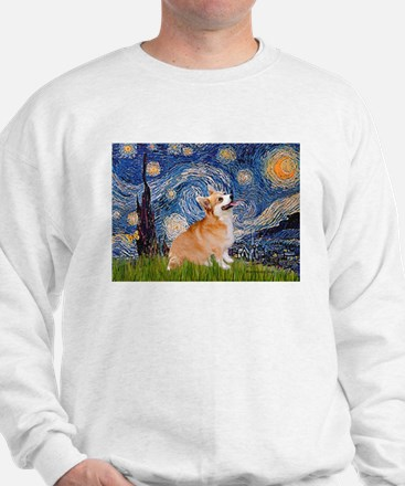 Starry Night Corgi Sweatshirt