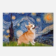 Starry Night Corgi Postcards (Package of 8)