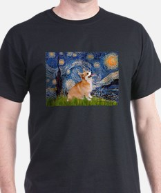 Starry Night Corgi T-Shirt