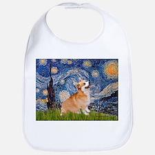 Starry Night Corgi Bib
