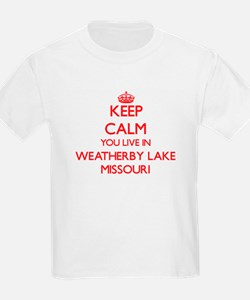Keep calm you live in Weatherby Lake Misso T-Shirt
