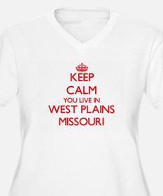 Keep calm you live in West Plain Plus Size T-Shirt