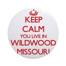 Keep calm you live in Wildwood Mi Ornament (Round)