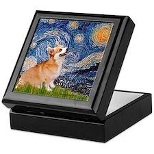 Starry Night Corgi Keepsake Box