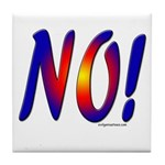 No! colorful sunset attitude Tile Coaster