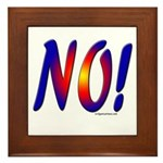 No! colorful sunset attitude Framed Tile