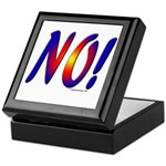No! colorful sunset attitude Keepsake Box