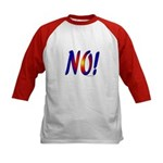 No! colorful sunset attitude Kids Baseball Jersey
