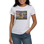 Lilies (2) & Corgi Women's T-Shirt
