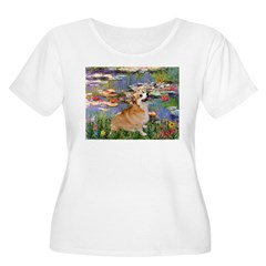 Lilies (2) & Corgi T-Shirt