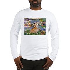 Lilies (2) & Corgi Long Sleeve T-Shirt