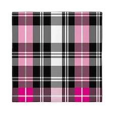 pink & black plaid Queen Duvet