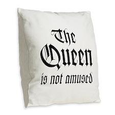 Queen Burlap Throw Pillow
