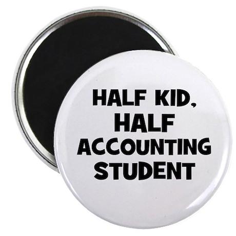 "Half Kid, Half accounting Stu 2.25"" Magnet (10 pac"