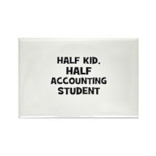 Half Kid, Half accounting Stu Rectangle Magnet