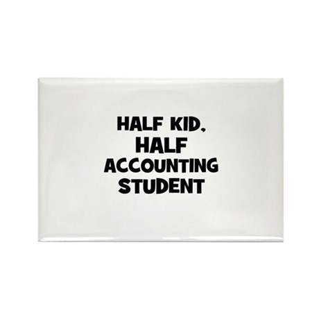 Half Kid, Half accounting Stu Rectangle Magnet (10
