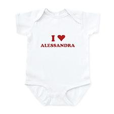 I LOVE ALESSANDRA Infant Bodysuit