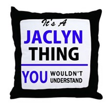Unique Jaclyn Throw Pillow