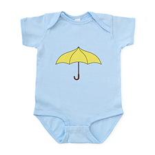 Yellow Umbrella Infant Bodysuit