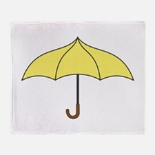 Yellow Umbrella Throw Blanket