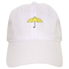 Yellow Umbrella Baseball Baseball Cap