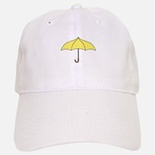 Yellow Umbrella Baseball Baseball Cap