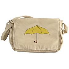Yellow Umbrella Messenger Bag