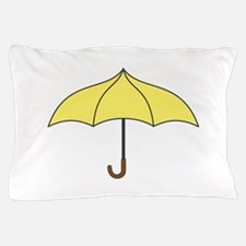 Yellow Umbrella Pillow Case