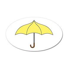 Yellow Umbrella Wall Decal