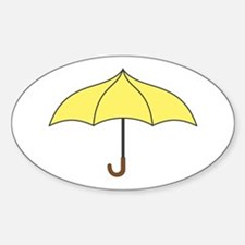 Yellow Umbrella Decal