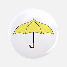 """Yellow Umbrella 3.5"""" Button"""