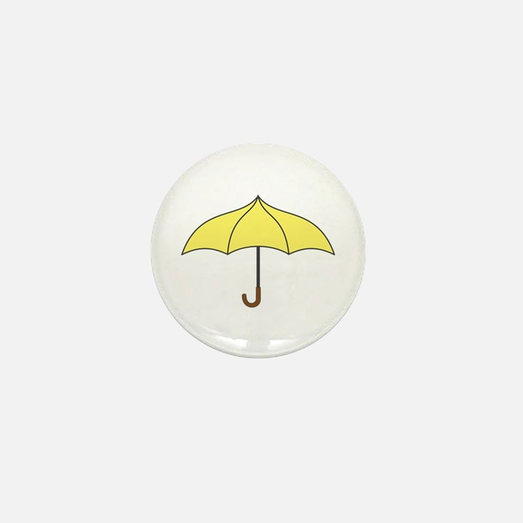 Yellow Umbrella Mini Button