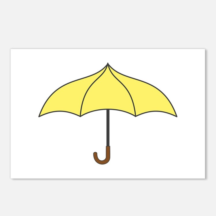 Yellow Umbrella Postcards (Package of 8)