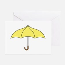 Yellow Umbrella Greeting Card