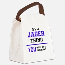 Cute Jager Canvas Lunch Bag