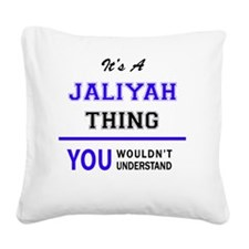 Cute Jaliyah Square Canvas Pillow