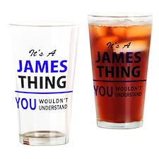 Unique Madison, james Drinking Glass