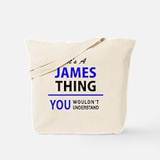 Cute James Tote Bag