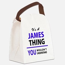 Cute James Canvas Lunch Bag