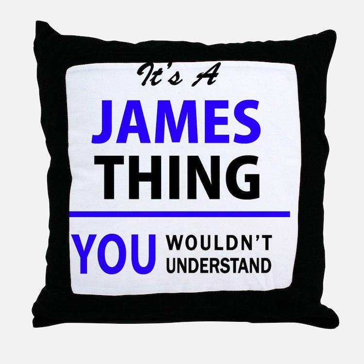 Cute James Throw Pillow