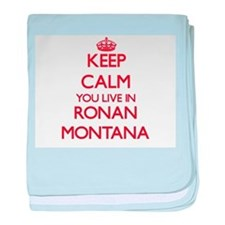 Keep calm you live in Ronan Montana baby blanket