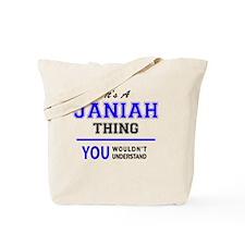 Cute Janiah Tote Bag