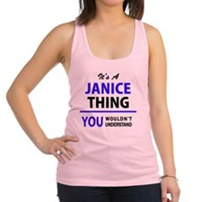 Cute Janice Racerback Tank Top