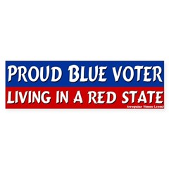 Blue Voter Red State Bumper Bumper Sticker